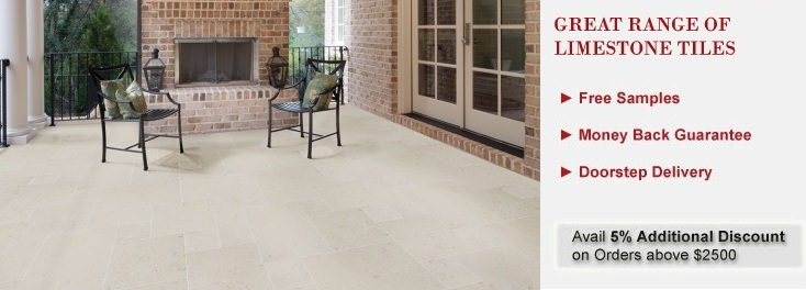 Buy Durable Natural Limestone Flooring Tiles Tilesbay