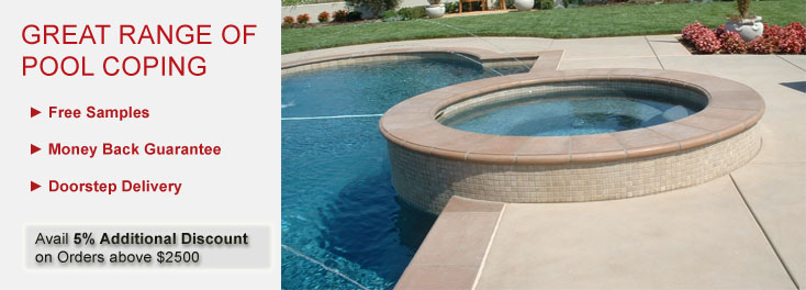 Pool Coping | Honed Unfilled Chipped & Brushed