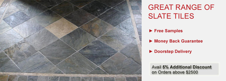 Shop For Durable Slate Stone Flooring L Tilesbaycom Tilesbaycom - 4 inch slate tile