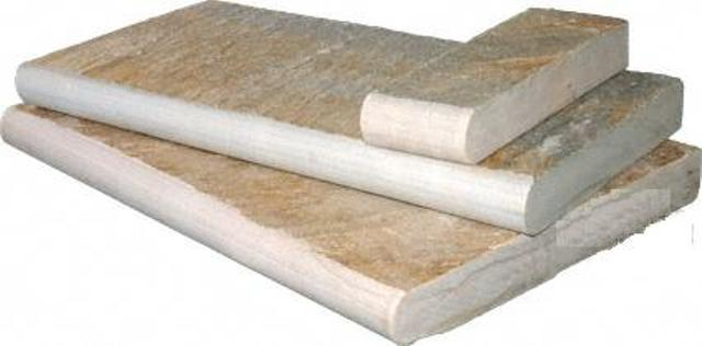 Golden White  One Long Side Bullnosed, 3 Sides Sawn Cut 16X24