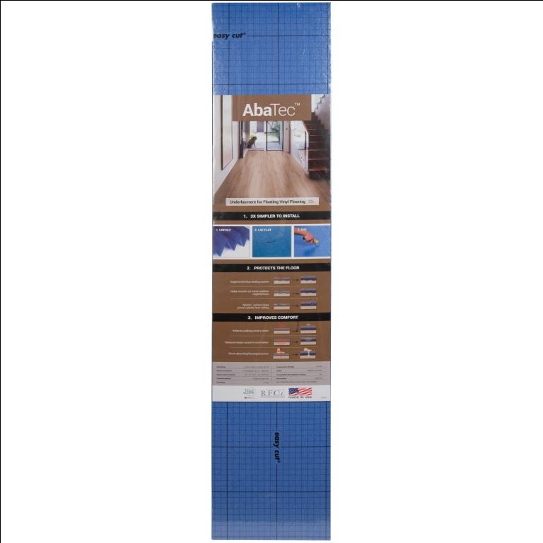 Abatec 3.9 FTX25.7FTX1mm Premium Rigid Click Luxury Vinyl Flooring Underlayment