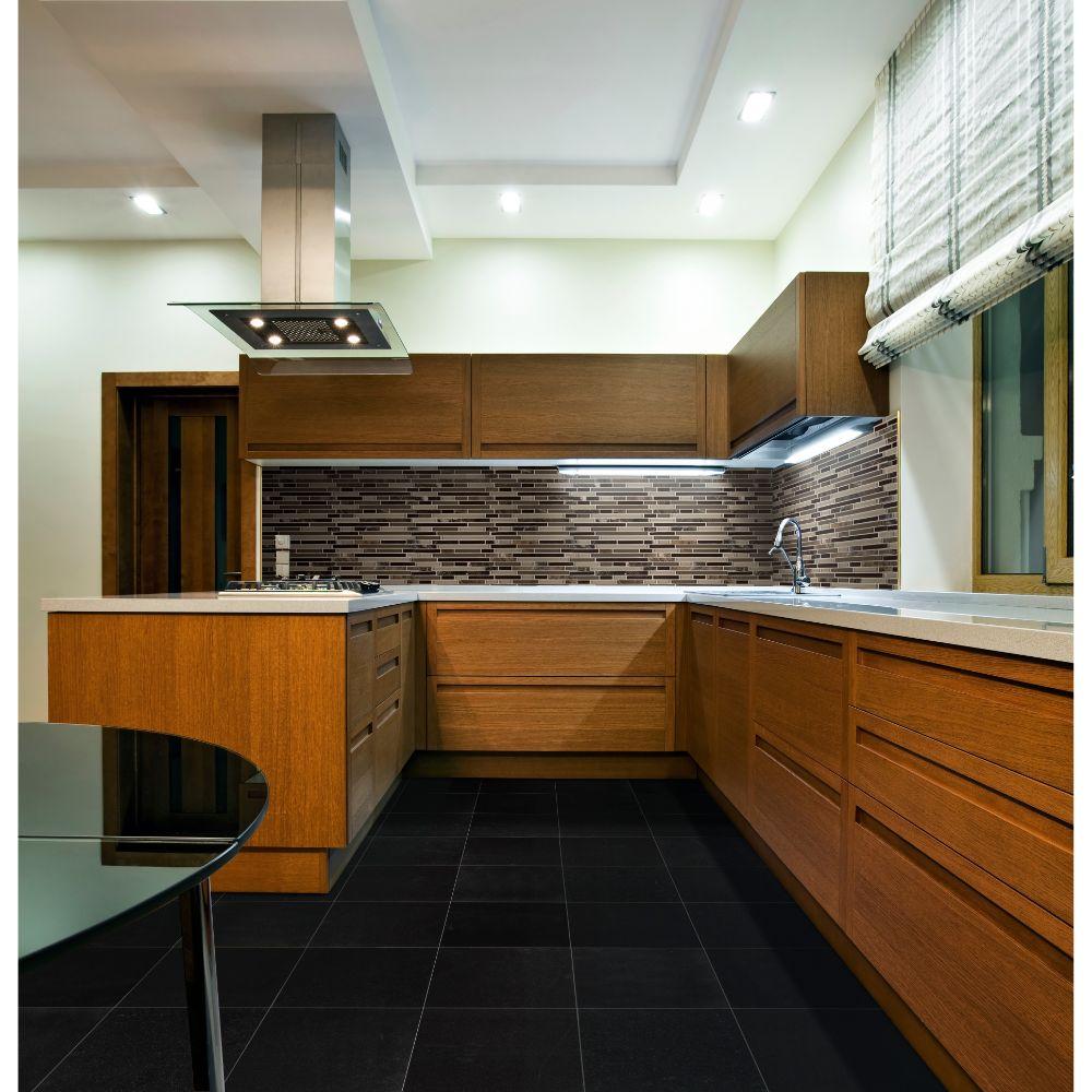 Absolute Black 12x12 Polished Granite Tile
