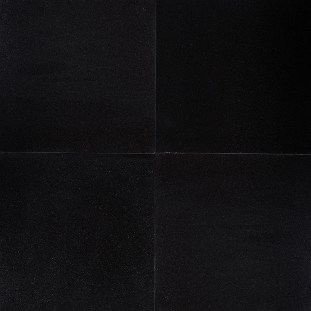 Absolute Black 18x18 Polished Granite Floor And Wall Tile