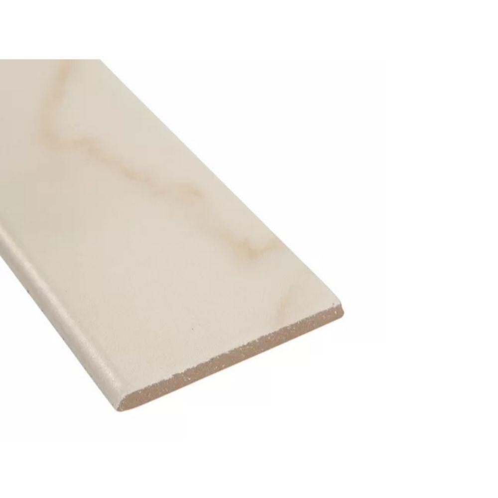 Adella Calacatta 3X18 Matte Bullnose Porcelain Tile