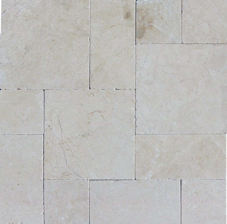 Aegean Pearl French Pattern 16 Sft x 10 Kits Tumbled Paver