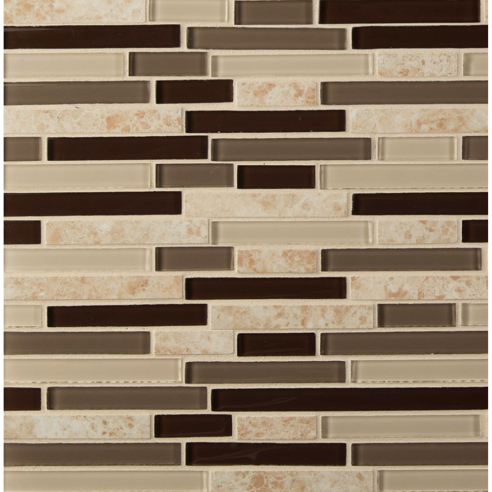 Amalfi Cafe Interlocking 6mm Glass Wall Tile