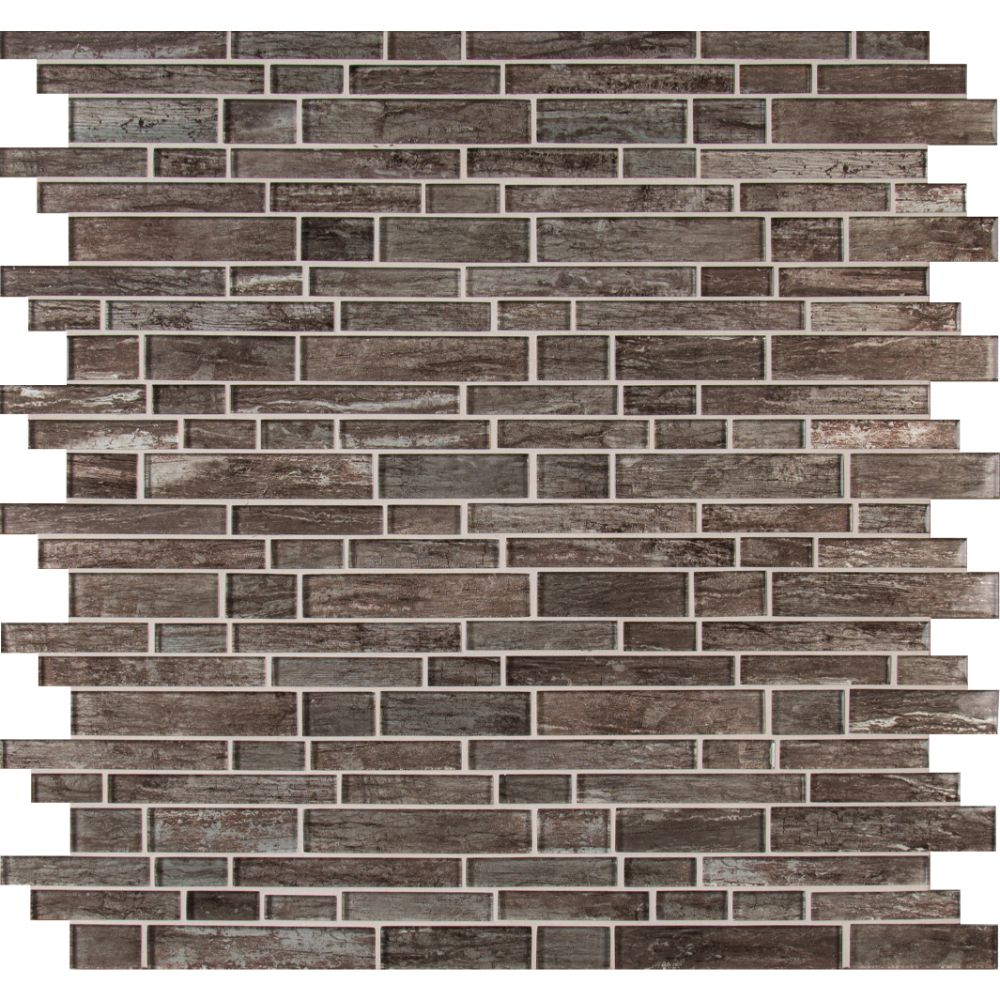 Antico Silversmith Interlocking Pattern Glass Mosaic