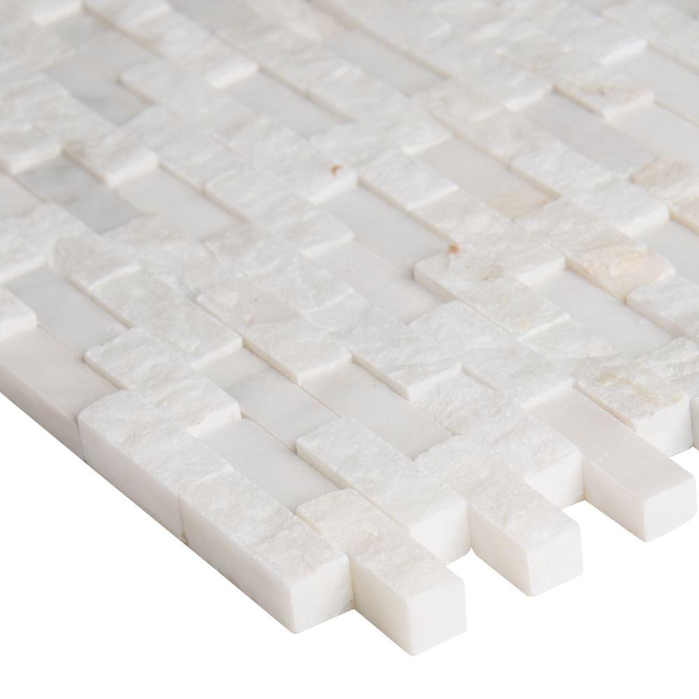 Free Shipping Arabescato Carrara 12x12 Splitface