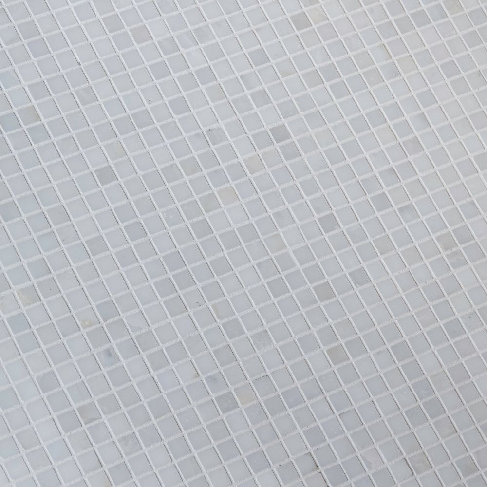 Arabescato Carrara 5/8x5/8 Honed Mosaic
