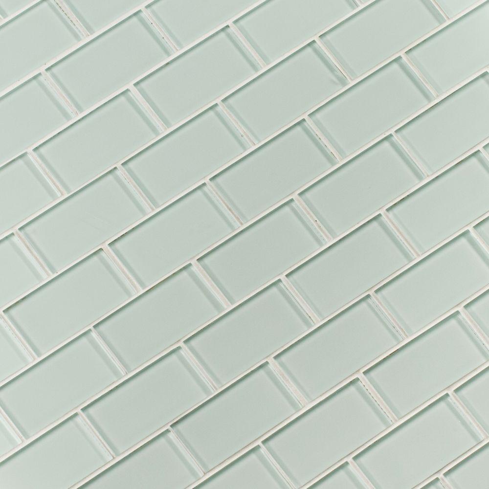 Arctic Ice 2x4 Glass Subway Mosaic Tilesbay Com