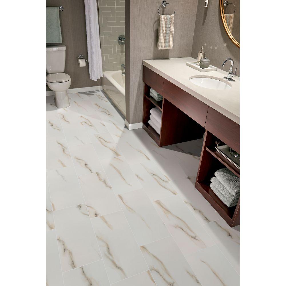 Bianco Porcelain Tile: Aria Bianco 24X48 Polished Porcelain Tile