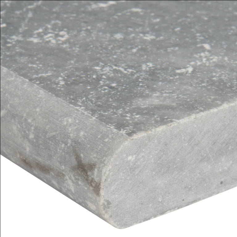Atlantic Blue 12x24 Tumbled One Long Side Bullnose Pool Coping