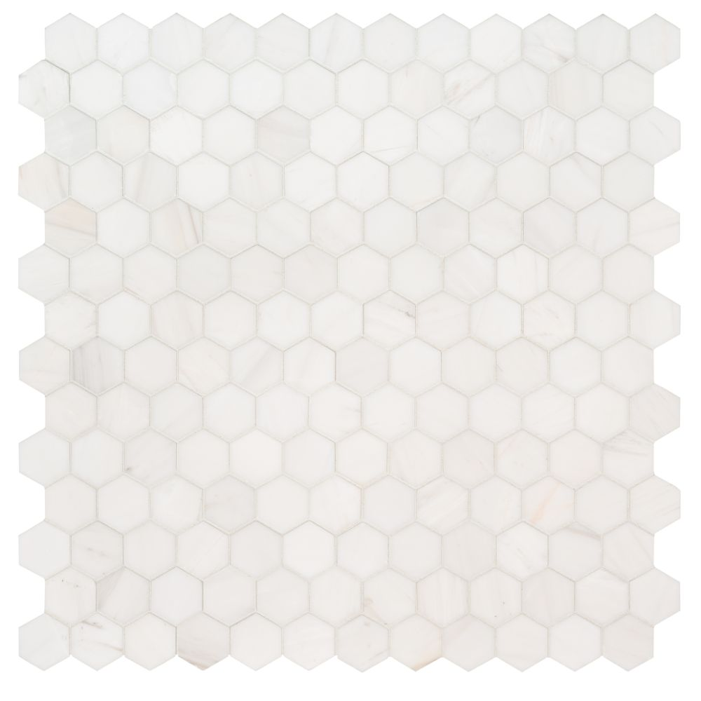Bianco Dolomite 2X2 Hexagon Polished Mosaic