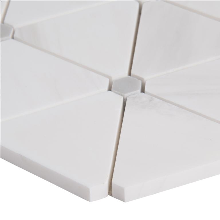 Bianco Dolomite Pinwheel Polished Backsplash Mosaic