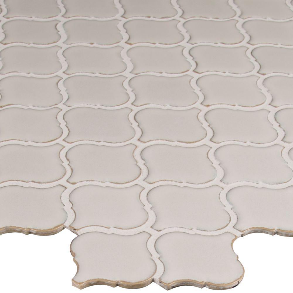 Bianco White Arabesque 6mm Mosaic