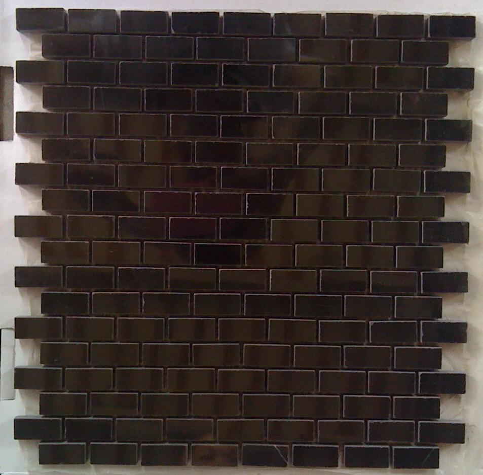 Black Marble 12X12 Interlocking Mosaic