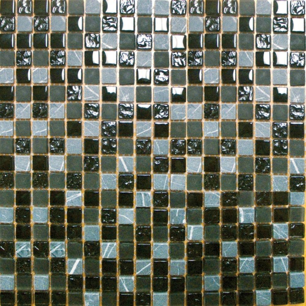Black Marquee 5/8x5/8 Glass/Stone Blend