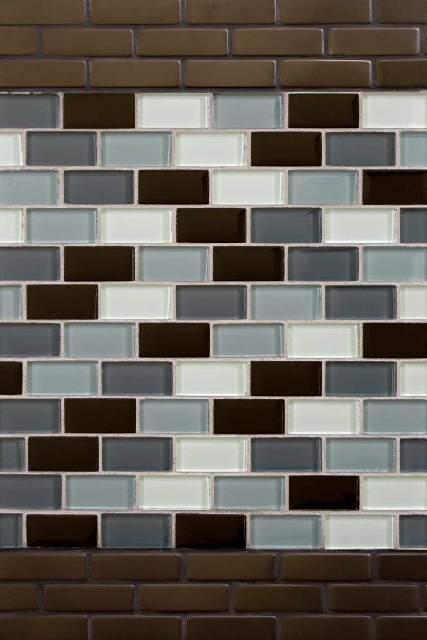 Black Blend Brick 1X2X8MM