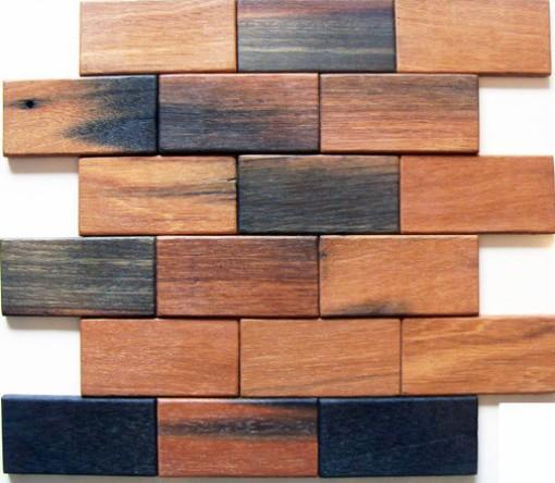 Brick Pattern 2x4 Antique Wood Mosaic