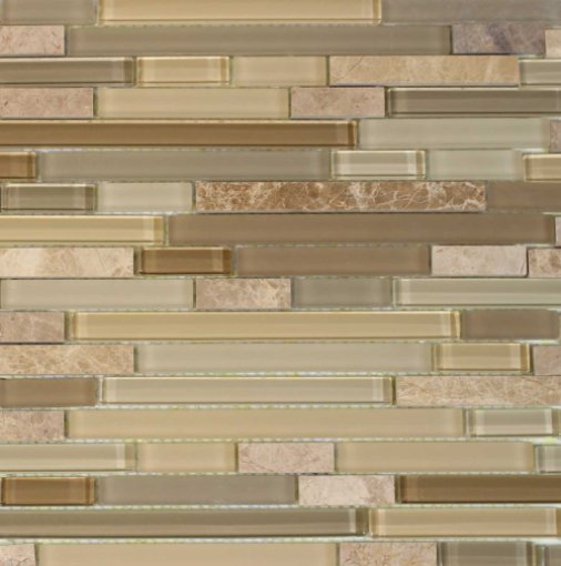 Brown Staccato 12x12 Glass Mix Blend Mosaic