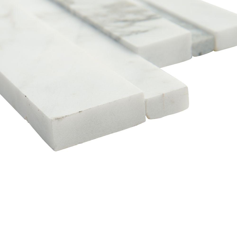 Calacatta Cressa 6x24 3D Honed Ledger Panel