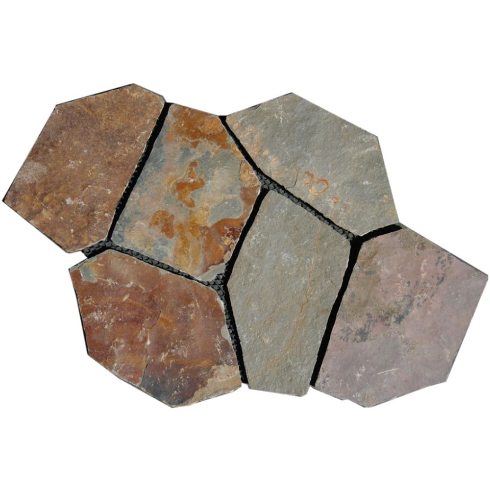 California Gold Mesh Interlock 2.75 Sft Pattern Flagstone