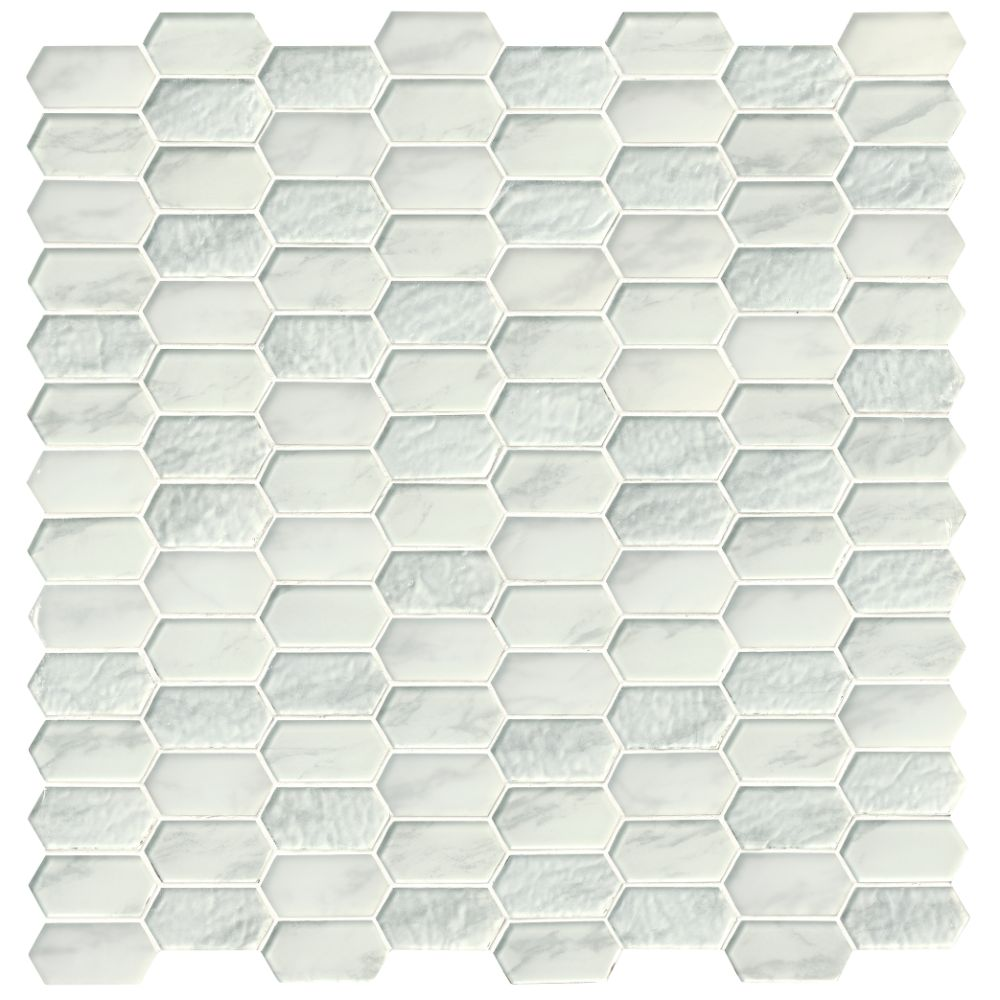 Calypso Picket Pattern Inkjet Glass Mosaic