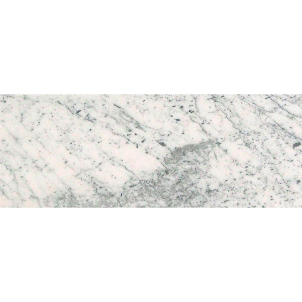 Carrara White 12x24 Honed Marble Tile
