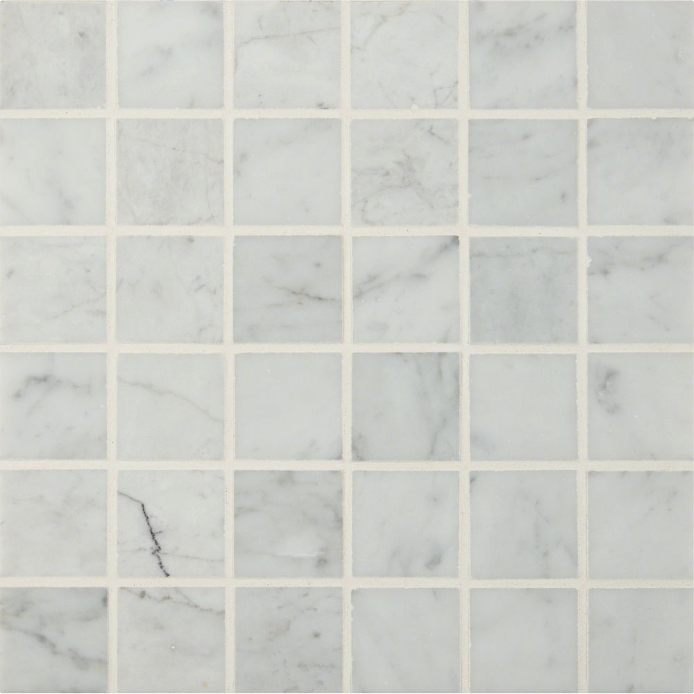 Carrara White 2x2 Polished Marble Mosaic