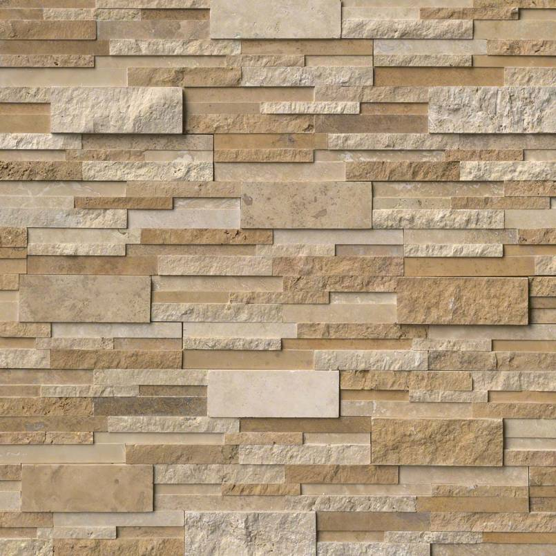 Casa Blend 6x18x6 3D Multi Finish Corner Ledger Panel