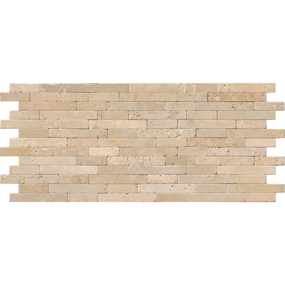Chiaro Travertine 8x18 Tumbled Stone Veneer