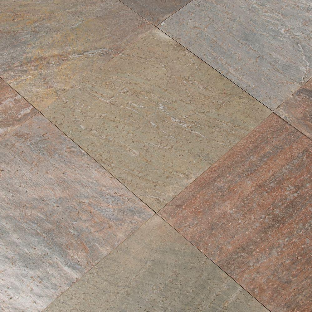Copper 12X12 Honed Quartzite Tile