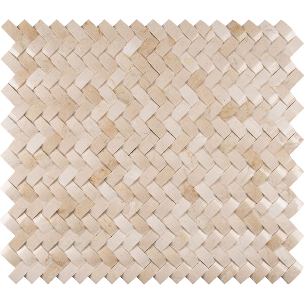 Crema Arched Herringbone 12X12 Polished