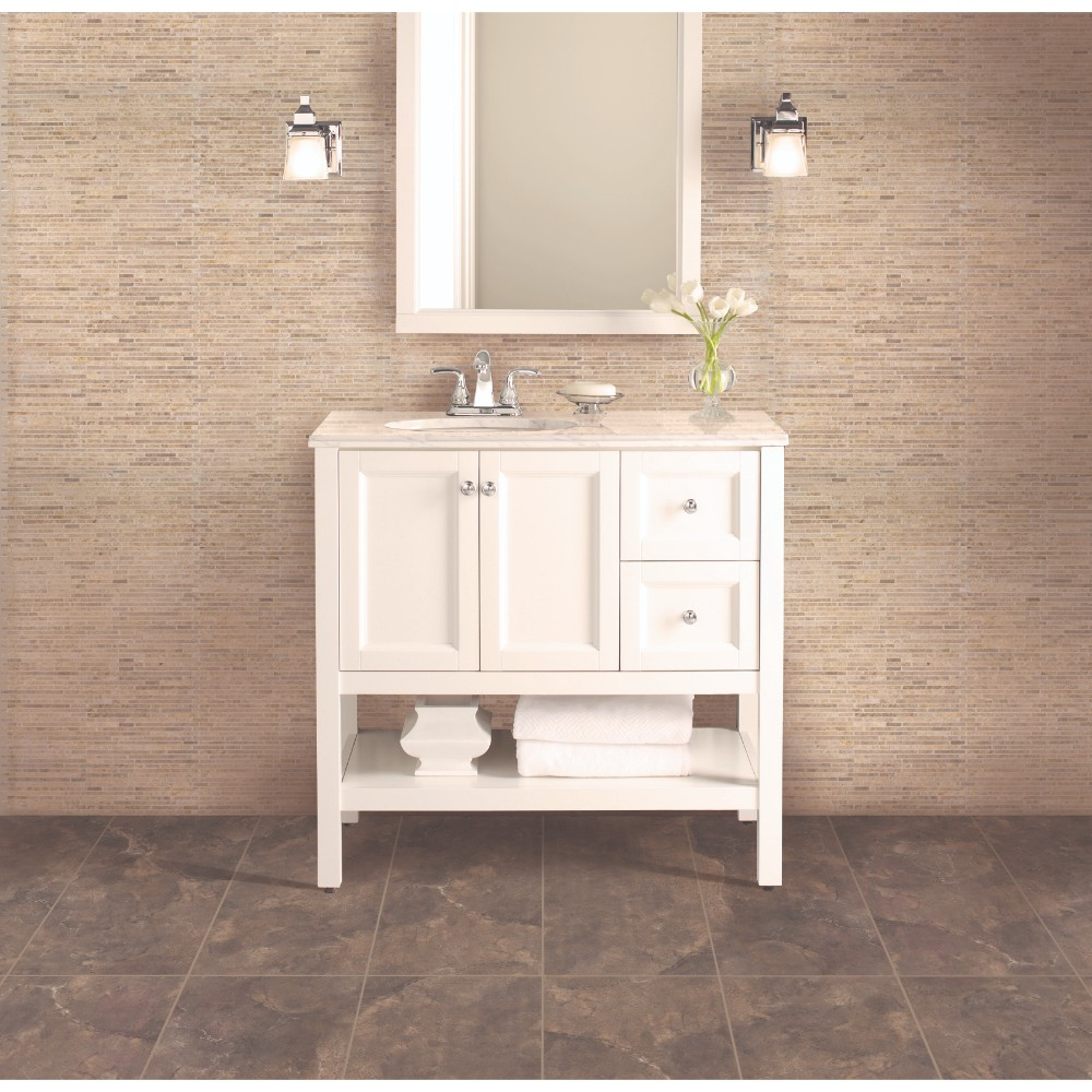 Crema Ivy Bamboo 10mm 12x12 Tumbled Marble Tile
