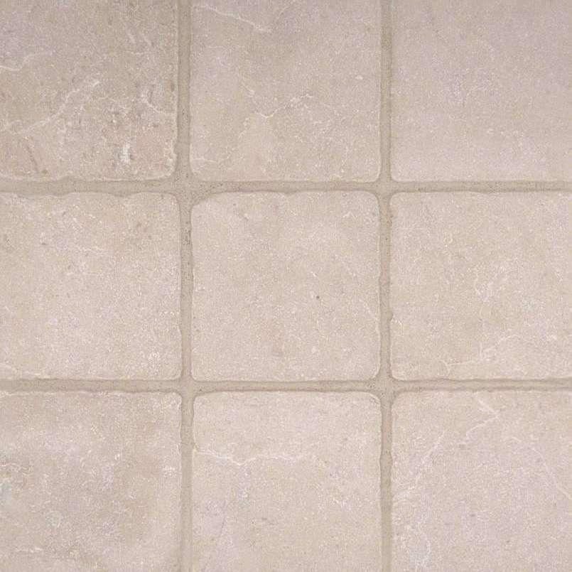 Crema Marfil 4x4 Tumbled Marble Tile