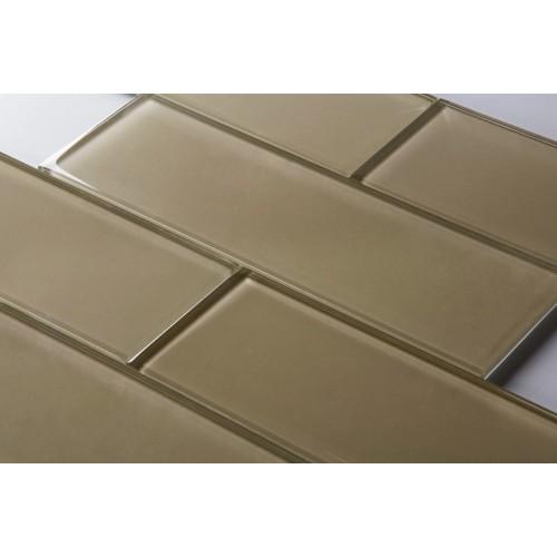 nude beige 4x12 subway glass tile