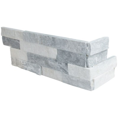 Alaska Gray Corner L Panel 6x18x6 Split Face
