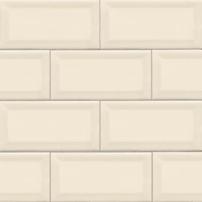 Almond 3X6 Beveled Glossy Subway Tile