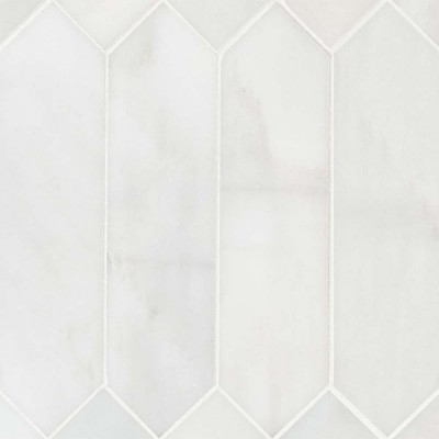 Arabescato Carrara 3X12 Picket Honed Mosaic