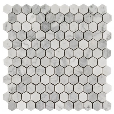 Arabescato Carrara Hexagon 12X12 Honed