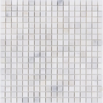 Arabescato Carrara Polished Marble Mosaic