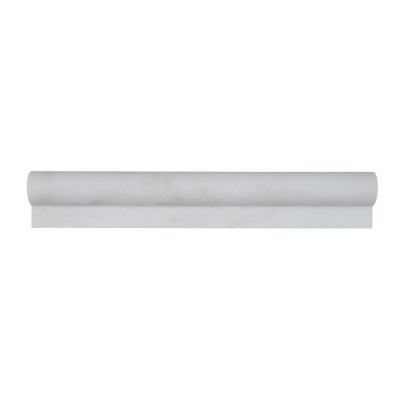 Arabescato Carrara Rail Molding 1x2x12 Honed
