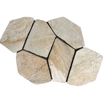 Arctic White Mesh Interlock 2.75 Sft/Pc Natural Slate Flagstone