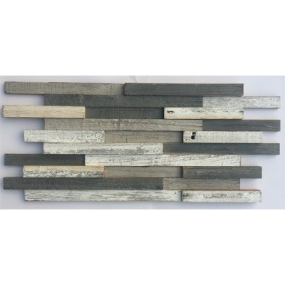 3D Random Plank 11-3/4x23 Antique Wood Mosaic