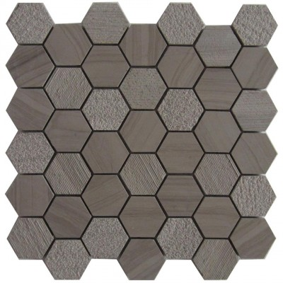 Athena Trinity 2x2 Hexagon Polished Mosaic