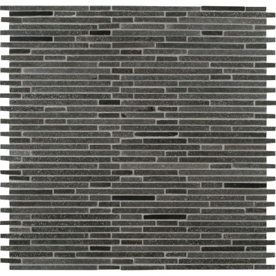 Basalt Blue Bamboo 12x12 Interlock Pattern Honed