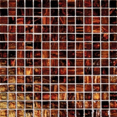 Brown Iridescent 3/4x3/4x4MM Mosaic
