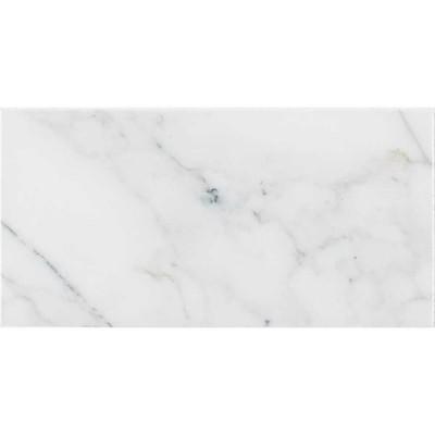 Calacatta Cressa 3X6 White Honed Subway Marble Tile