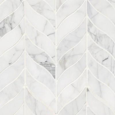 Calacatta Cressa Leaf Pattern Honed Mosaic