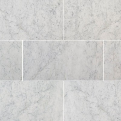 Carrara White 12X24 Polished Marble Tile